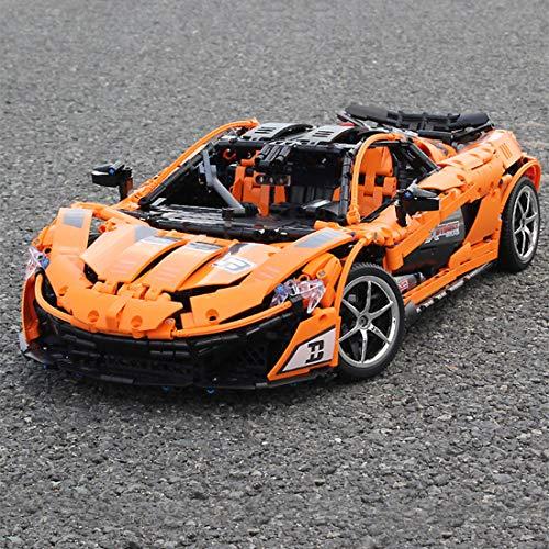 Gettesy Bloques de construcción para coche teledirigido, 3427, bloques de construcción 1:8, 2,4 G, modelo de coche de carreras, coche deportivo, compatible con Lego Technic