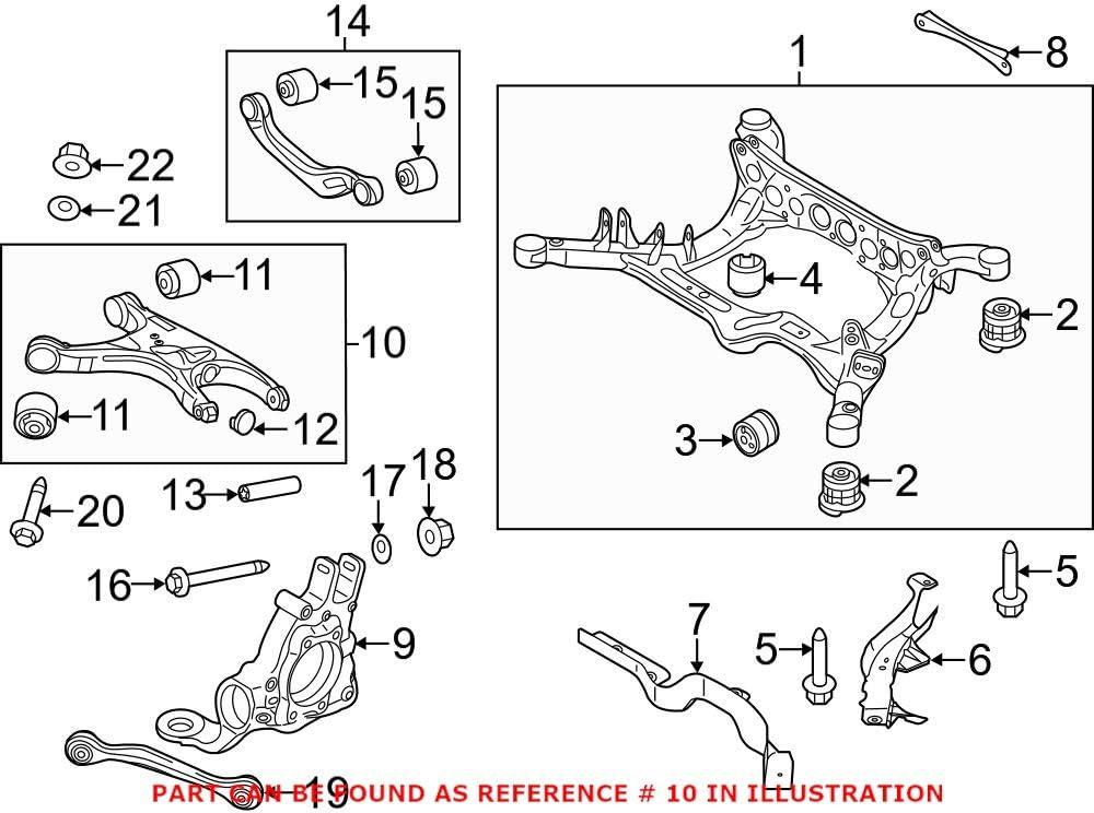 Ranking TOP13 Genuine Sacramento Mall OEM Rear Left Lower Control for Suspension Arm Rearward