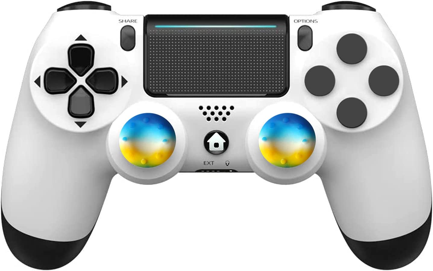 Wireless Controller for PS-4, Game Joystick Remote for PS-4 Controller, with Audio Jack, Double Vibration, Six-Axis Motion Control, Touchpad, for PS-4/Slim/Pro Console