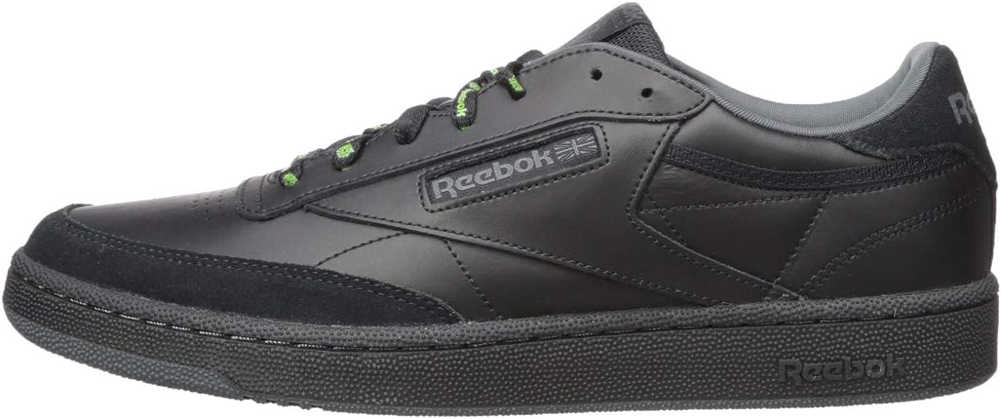 Reebok Herren Club C 85 Rad Turnschuh, gebrochenes weiß Schwarz True Grey Neon Lime lNd8G
