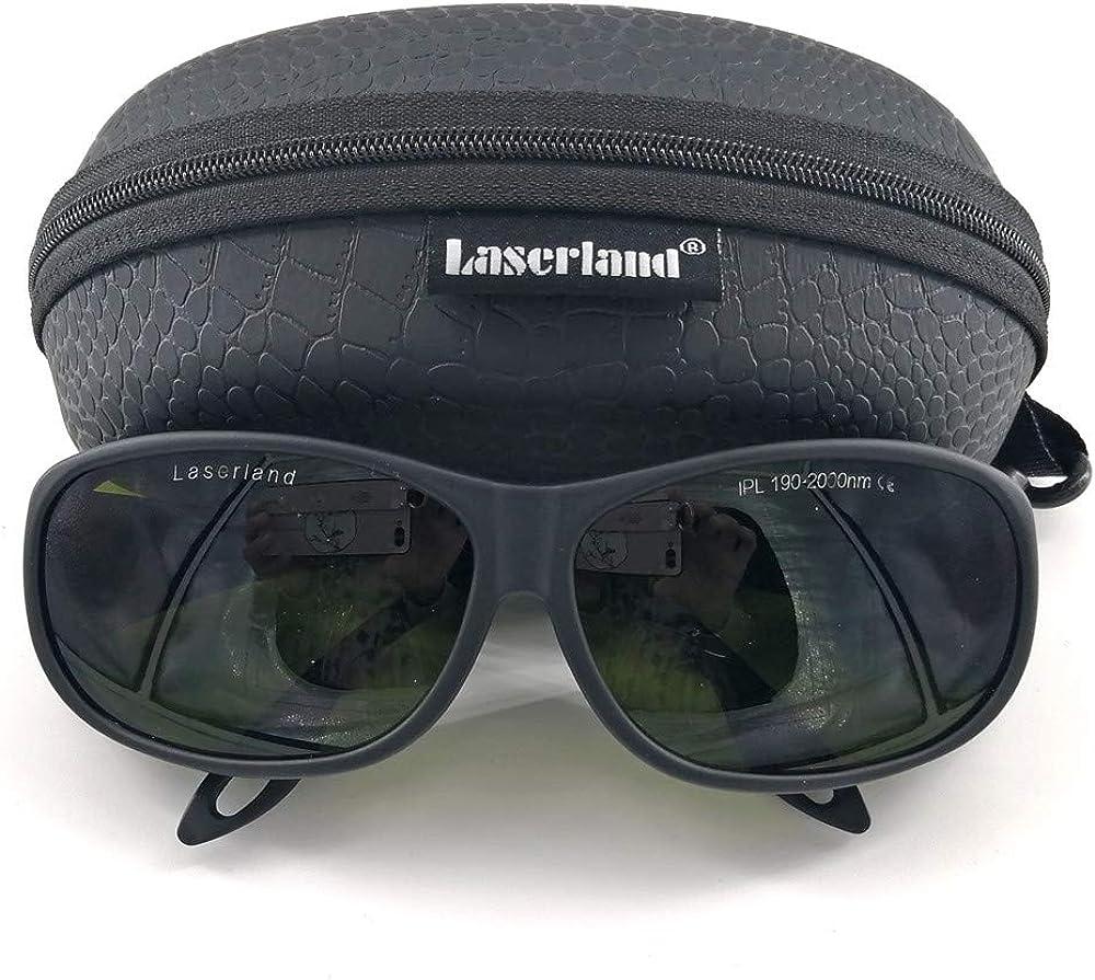 Laserland T-IPL - Gafas de protección láser (190-2000 nm, HPL/IPL, para depilación, protección ocular contra parpadeos, pulso de luz