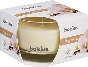 bolsius Geurkaars in glas, middelgroot, vanille, was, wit true mOODS & true scènes m