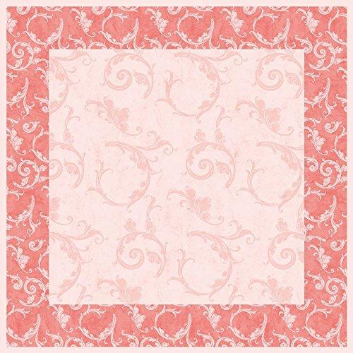 Sovie Home Linclass® Airlaid Tischdecke Romantic/ 80x80 cm/Mitteldecke stoffähnlich/praktisches Einmal-Tischtuch (Rosa)