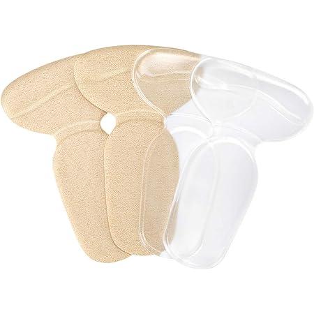 Haofy cuscinetti tacchi per donna e uomo, inserti cuscino del tallone per scarpe larghe, 2 paia solette in gel con tacco posteriore antiscivolo per prevenzione di vesciche, sollievo dal dolore