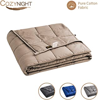 Cozynight Weighted Blanket 12Lbs for Kids(48''x72'',Twin Size), Heated Blanket with Glass Beads Release Stress