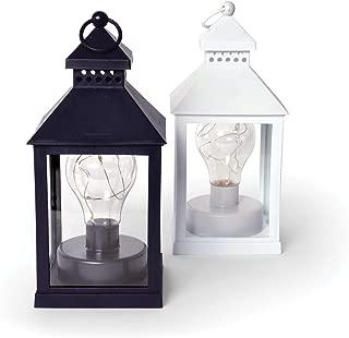 Home Decor LED Lanterns Decorative Set of 2 Pcs White Black Ying Yang Dining Accent Table Desk Lamp, Garden Decor, Wedding Decor, BO Cordless Hanging Lamp Indoor Outdoor Patio Lighting Deck Lights