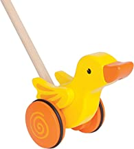 Hape Duck Push And Pull Toy [E0343], Multi Color