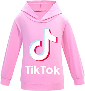 Thombase YouTube TIK Tok Kids Girls Long Sleeve Hooded T-Shirt Boys Top Mucially Hoodies