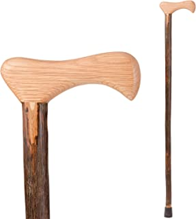 Brazos Walking Cane for Men and Women Handcrafted of Lightweight Wood and made in the USA, Hickory, 37 Inch