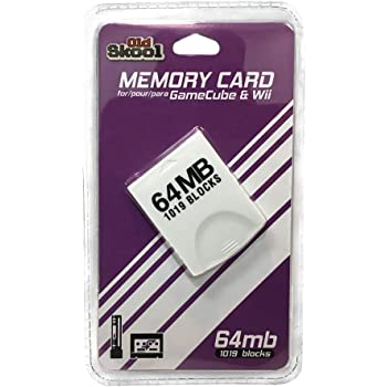 Old Skool GameCube and Wii Compatible 64MB Memory Card with 1019 Blocks