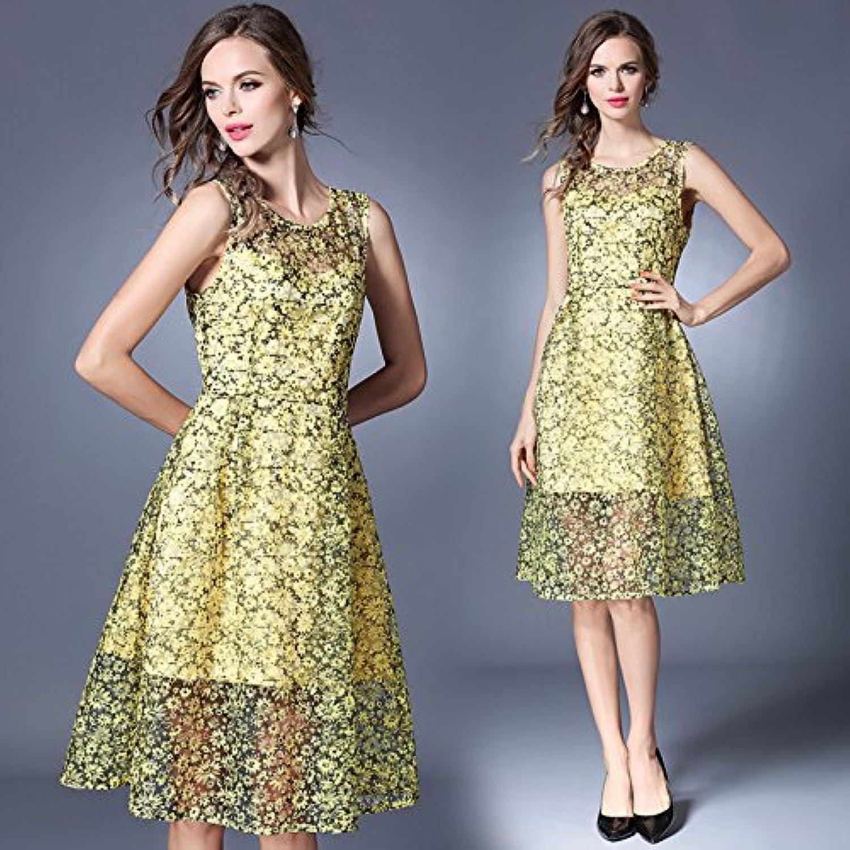 &QQ Sleeveless dress, highend women's,, shortsleeved lace, dress