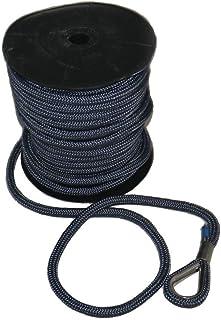 Saarwebstore Blei-Ankerleine von 10mmDurchmesser bis 16mmDurchmesser Yacht Ankerleine m. Bleivorlauf Boot bis 50m Bruchlast bis 2100kg Farbe dunkelblau