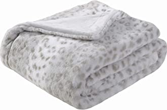 Sedona House Faux Fur Throw Blanket - Super Soft Fuzzy Faux Fur Cozy Warm Fluffy Beautiful Plush Microfiber Throw Blanket, Grey
