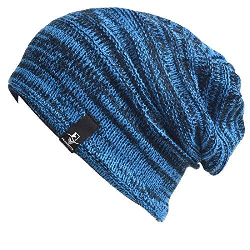 VECRY Baby Kinder Winter Mützen Jungen Mädchen Kleinkind Stricken Schädel Kappe (01k-Blau)