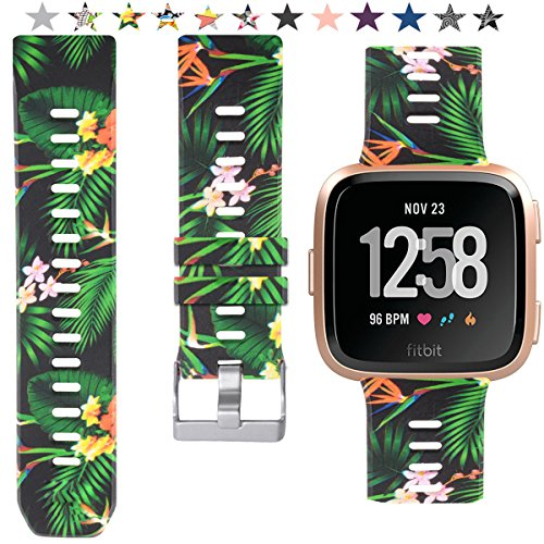 Allbingo Fitbit Versa Cute Bands,Women Men Replacement Strap Wristband for Fitbit Versa Smart Watch (Nysterious Nature, Large)