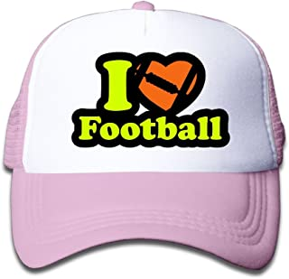 Pkfokfjk I Love Football Cartoon Children Net Cap Baseball Cap, Children Net Cap Truck Driver Cap Boys and Girls.