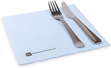"""مناديل العشاء الأبيض النقي من Luxenap Air Laid - ناعمة ومتينة 16 × 16 """" مناديل ورقية - للاستعمال مرة واحدة وقابلة لإعادة التدوير - 25 CT - Restaurantware, 600 pack, 600 count"""