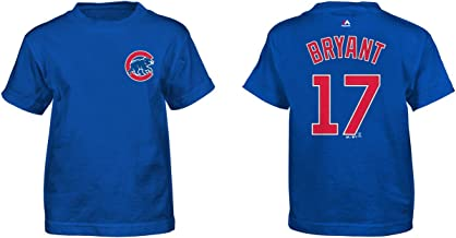 Majestic Kris Bryant Chicago Cubs Blue Youth Name and Number Jersey T-Shirt