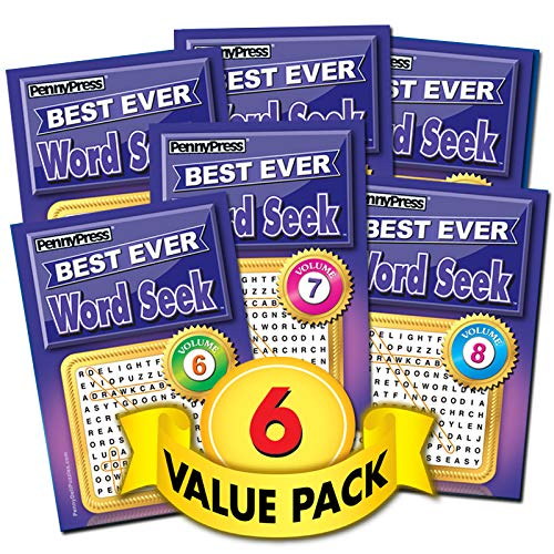 Best Word Seek Puzzles-6 Pack