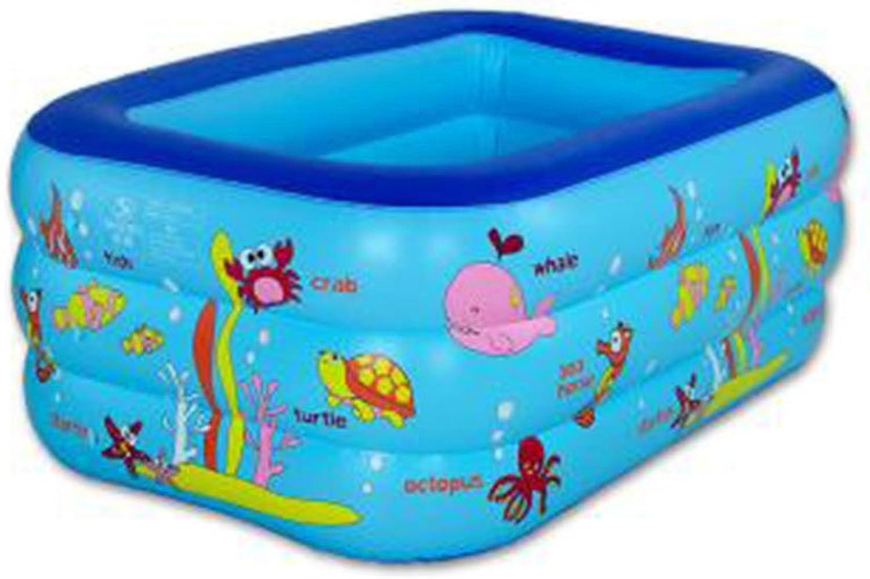 LEGOUGOU Familien-Suglings-neugeborenes Pool-Kind-aufblasbares Baden Pool-Dickes Isolated aufblasbare Badewanne-Grün-Material-Karikatur-Blau 130  85  55cm Schaumbad