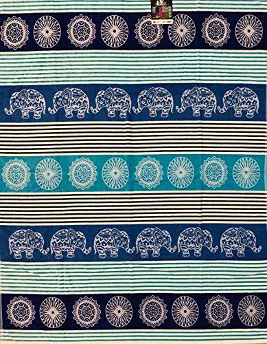 Toalla de playa de matrimonio Mosaic Elephant 100% rizo de algodón 140 x 170 cm playa dos plazas