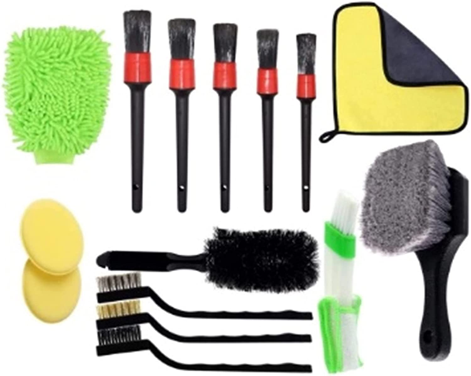 YXIUER 15PCS car Detail Brush kit Including Wire Ranking Max 40% OFF TOP2 B
