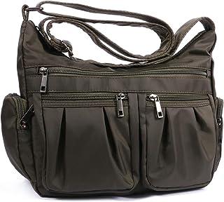 Nylon Crossbody Bags for Women Multi Pocket Shoulder Bag Waterproof Travel Purses and Handbags