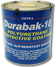 Durabak 18 (For Outdoors), TEXTURED version - Non Slip Coating, Bedliner, Deck Paint for ALL Boats - Many colors to choose from! - WHITE - GALLON