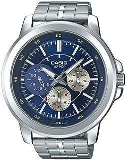 ساعة كاسيو انتايسر ستانلس ستيل متعددة الوظائف للرجال MTP-X300D-2EV