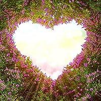 1セットフレームレスDIY5Dダイヤモンド絵画、カラフルなロマンチックなハート型ラブツリーのテーマクリスタルラインストーンダイヤモンドで覆われた絵画キットホームウォールリビングルームの装飾