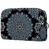 Bolsa de brochas de maquillaje personalizable, portátil, bolsa de aseo para mujer, organizador de viaje, escamas de sirena