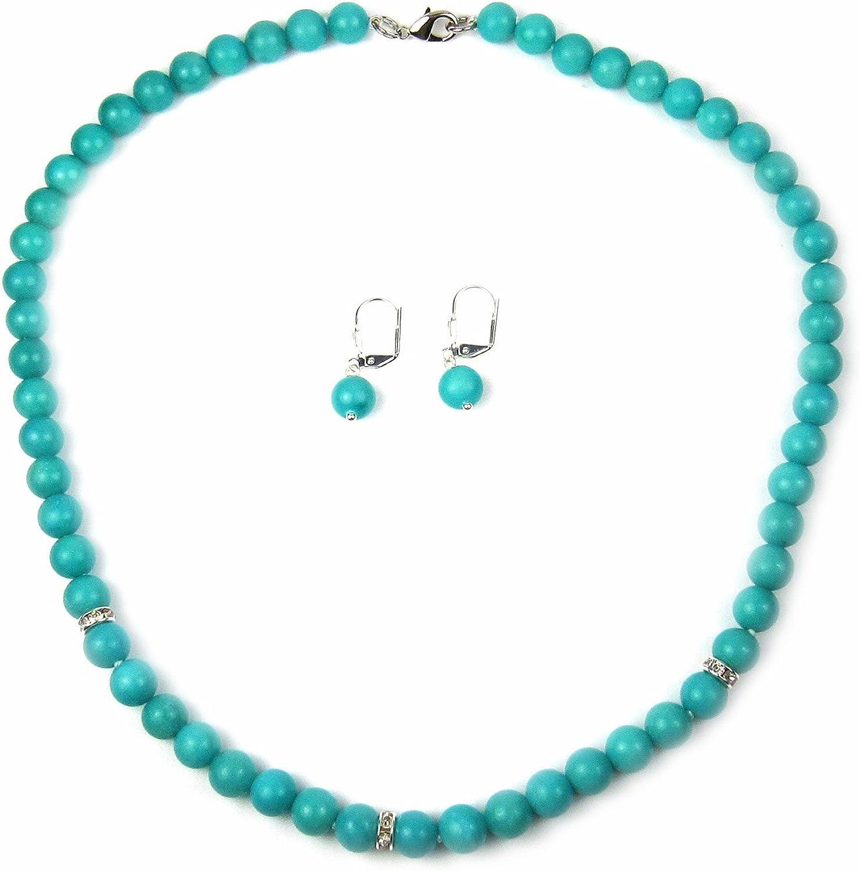 Regalia by Ulti Ramos Aqua Jewelry Set, Jade Jewelry Set, Modern Jewelry Set, Blue Green Jewelry Set, Beaded Jewelry Set