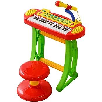 RiZKiZ キッズキーボードセット 機能がいっぱい詰まったキーボード 鍵盤 ピアノ おもちゃ キッズ マイク付 楽器 知育玩具 対象年齢3歳 自動電源オフ機能