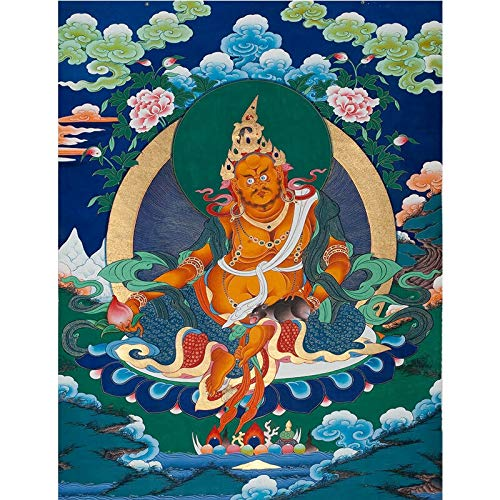 GuoQiang Zhou Pinturas para colgar en el porche tibetano budista Tangka para el hogar y la residencia Pinturas decorativas Color: A, Tamaño (pulgadas): 50 x 65 cm, sin marco