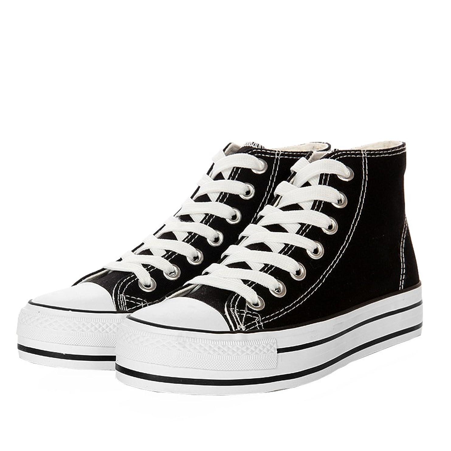 ハーネス性差別今[スフォン] 背が高くなる 6cm UP 春夏 ズック靴 ハイカットスニーカー 厚底 キャンバスシューズ シークレットシューズ