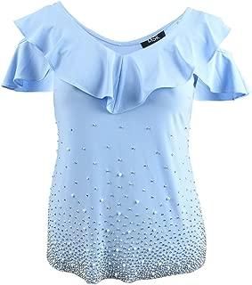 Womens Embellished Cold Shoulder Blouse