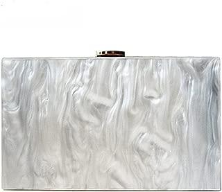 new wallet fashion women messenger bag pearl Acrylic Clutch pure white shoulder Evening bag