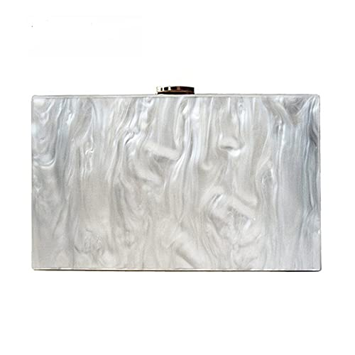 Dirmmis new wallet fashion women messenger bag pearl Acrylic Clutch pure  white shoulder Evening bag 91f8a4c3f4e9c