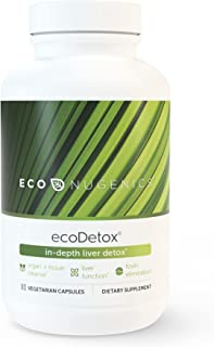 EcoNugenics Ecodetox 90 Capsules Professionally Formulated To Support Total Body Detox & Optimal Cleansing Enhanced With B...