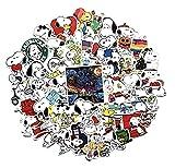 ZJJHX Snoopy Graffiti Stickers Nuevas Pegatinas Impermeables para automóviles Etiquetas Autoadhesivas Pegatinas Decorativas de Dibujos Animados 62