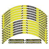 Uytkagz Accesorios de Motocicleta Rueda Neumático Rim Decoración Adhesiva Etiqueta de calcomanía reflexiva Adecuada para CB650R (Color : 260425)