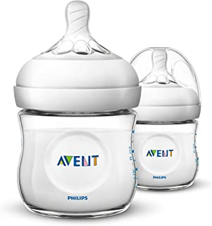 Philips Avent Natural Baby Bottle, Clear, 4oz, 2pk,...