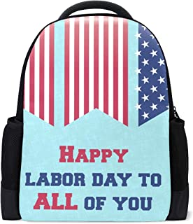 Backpack Trendy Labor Day Personalized Shoulders Bag Classic Lightweight Daypack for Men/Women/Students School