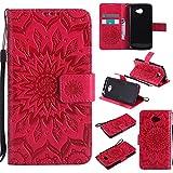 Nancen Compatible avec LG K5 Coque Haute Qualité PU Cuir Flip Étui Coque de Protection...