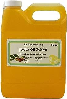 Jojoba Oil Golden 100% Pure & Organic By Dr.Adorable 32 oz /1 Quart