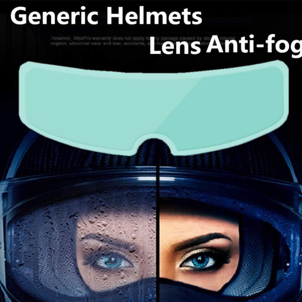 POHOVE Pellicola Anti Nebbia Per Helme Moto Helme Lens Anti Fog Film Universale Helme Visiera Pellicola Impermeabile Helme Lens Sticker Anti-fog Pellicola Scudo Anti-fog Film