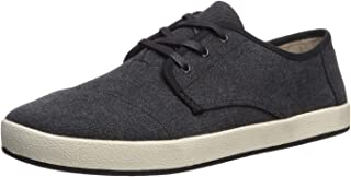 TOMS Men's Paseo Sneaker, Black Washed Canvas, 13 D Medium US
