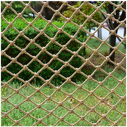 Hwt Tarnnetz Jute Netz Vintage Industrie Artdekoration,Sicherheitsnetz für Treppengeländer,Natürliches Jutematerial für Themen Restaurant Cafe Bar Party,12mm/12cm,Mehrere Größen (Size : 2x3m)