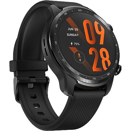 TicWatch Pro 3 Ultra GPS スマートウォッチ Wear OS搭載 LINE通知 IP68防水 iOS/Android対応 日本語対応 メンズ ブラック
