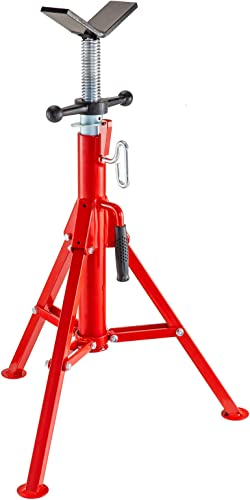 lowest V Head Pipe Stand Adjustable high quality Height 2021 28-52 Inch, Folding V Head Pipe Stand 2500lbs, Pipe Jack Stand 1/8 to 12 In, Welding Pipe Stand online sale